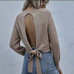 The JULIA Open Back Sweater